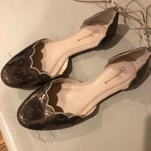 Anthro lace up ballet flats